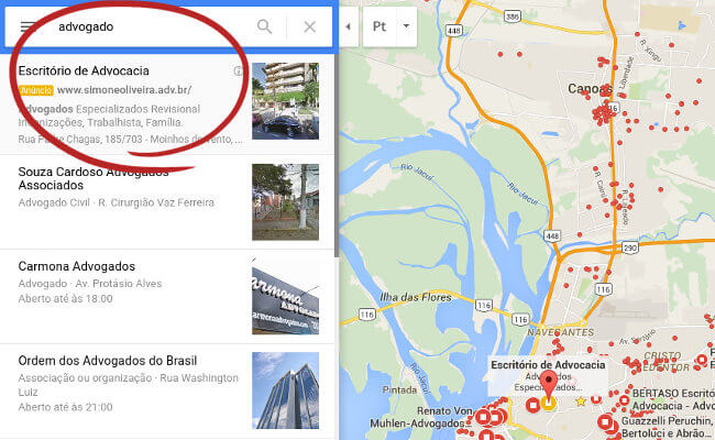 Adwords Express no Google Maps