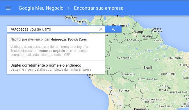 aparecer no google maps - passo 1