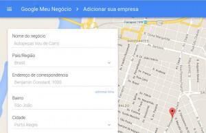 aparecer no google maps - passo 2