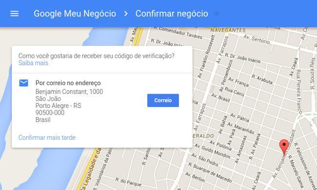 cadastro no google maps - passo 3