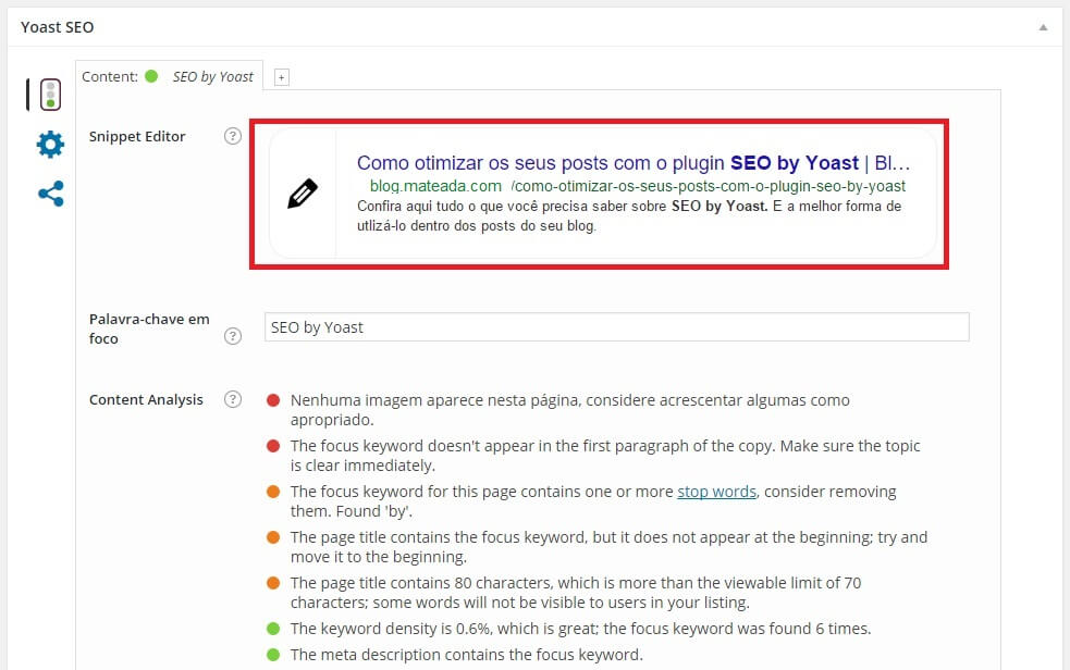Configurando meta tags no plugin SEO by Yoast