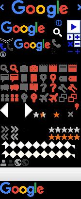 Imagem do Google usada para CSS Sprites