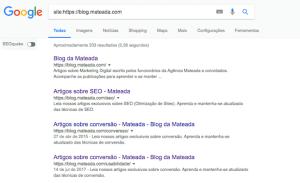 Mateada aparecendo nas buscas do Google