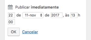Agendar publicação no WordPress