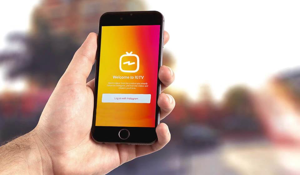 Imagem do aplicativo igtv na tela de um celular.