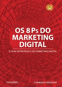 Capa do livro Os 8 Ps do Marketing Digital.