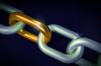 Corrente representando a ligação da construção de links em SEO.