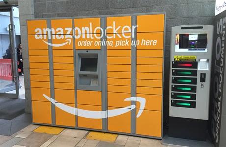 Armário para receber compras da Amazon Locker