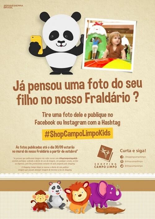 Campanha de Dia das Crianças do Shopping Campo Limpo