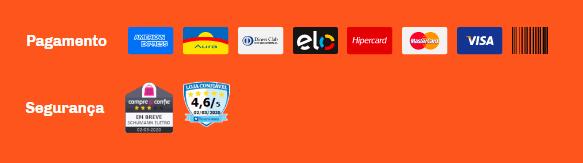 Selos de pagamento e segurança de e-commerce